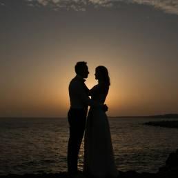 vjenčanje silueta, marko hanžeković, zalazak sunca, jadransko more