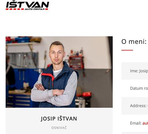 Josip Istvan, Koprivnica, Auto centar Istvan